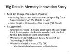 big data in memory innovation story