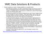 yarc data solutions products