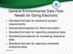 general environmental data flow needs for going electronic