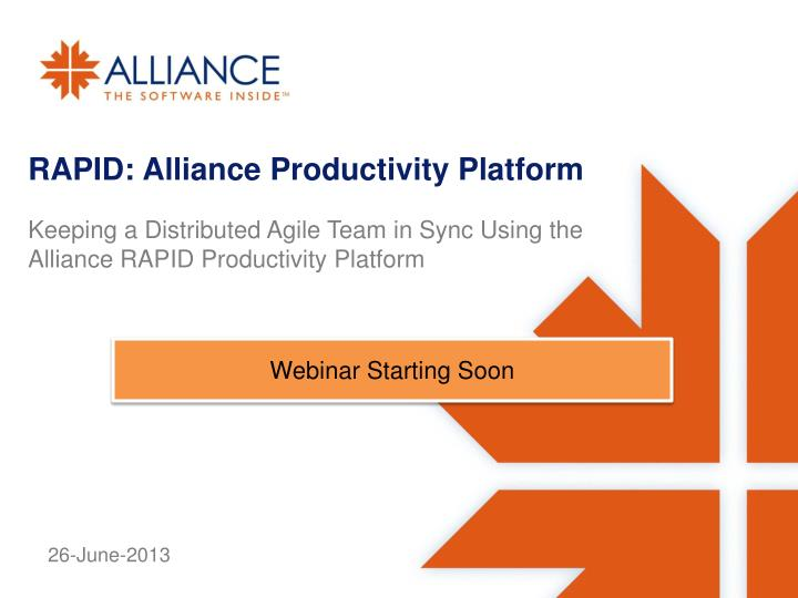 rapid alliance productivity platform n.