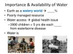 importance availability of water