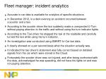 fleet manager incident analytics