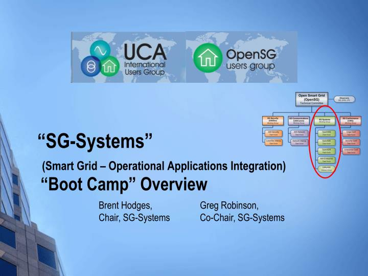 sg systems smart grid operational applications integration boot camp overview n.