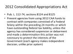 2012 consolidated appropriations act