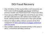 doj fraud recovery