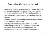 executive order continued