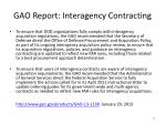 gao report interagency contracting