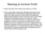 meeting on contract profit