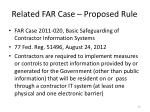 related far case proposed rule