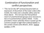 combination of functionalism and conflict perspectives