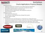 bob bullman oracle applications practice director