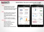 make better decisions with greater insight project analytics