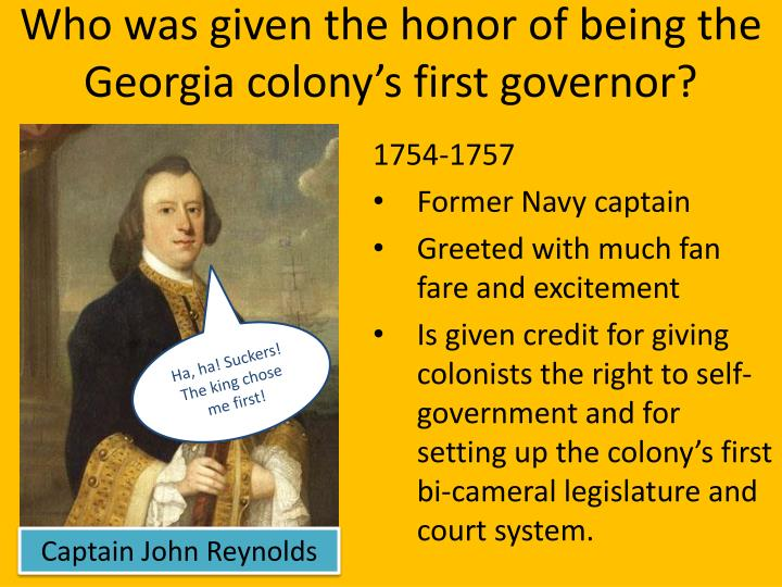 who was given the honor of being the georgia colony s first governor n.