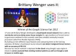 brittany wenger uses it