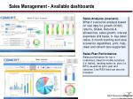 sales management available dashboards