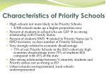 characteristics of priority schools