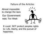 failure of the articles1