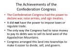 the achievements of the confederation congress1