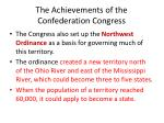 the achievements of the confederation congress2