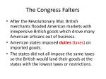 the congress falters