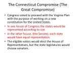the connecticut compromise the great compromise