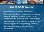 sba cdc 504 program2