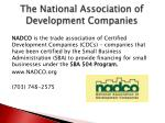 the national association of development companies