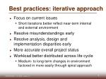 best practices iterative approach