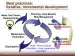 best practices iterative incremental development