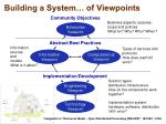 building a system of viewpoints
