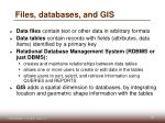 files databases and gis