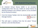 avd android virtual device