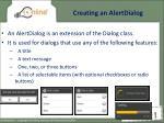 creating an alertdialog