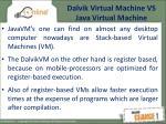 dalvik virtual machine vs java virtual machine