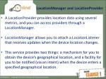 locationmanager and locationprovider