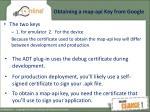obtaining a map api key from google