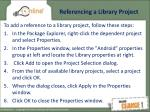 referencing a library project