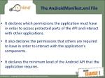 the androidmanifest xml file2