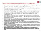 what does competitiveness mean in 2013 and beyond