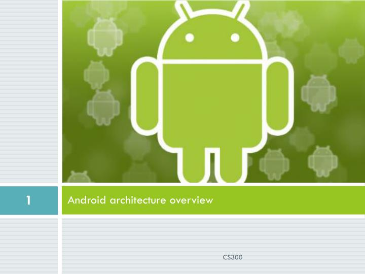 android architecture overview n.