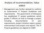 analysis of recommendation value added1