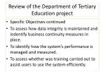 review of the department of tertiary education project1