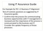 using it assurance guide