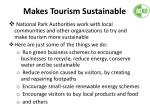 makes tourism sustainable1