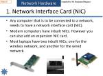 1 network interface card nic