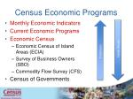 census economic programs