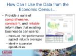 how can i use the data from the economic census