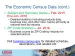 the economic census data cont