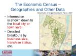 the economic census geographies and other data