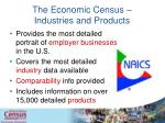 the economic census industries and products